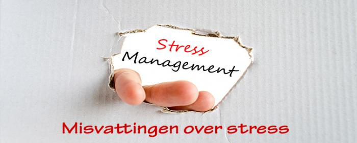 Misvattingen over stress