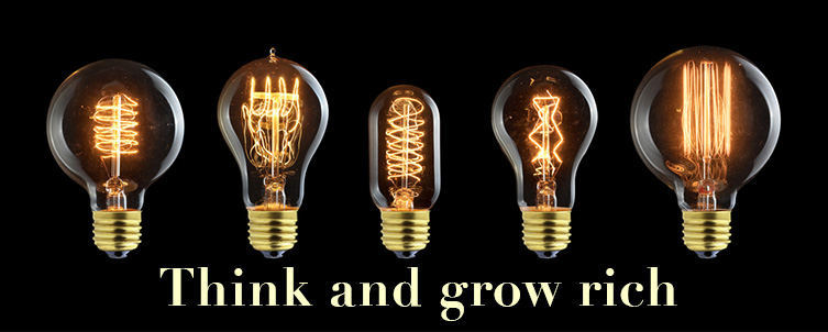 Brandende lampen Think and grow rich