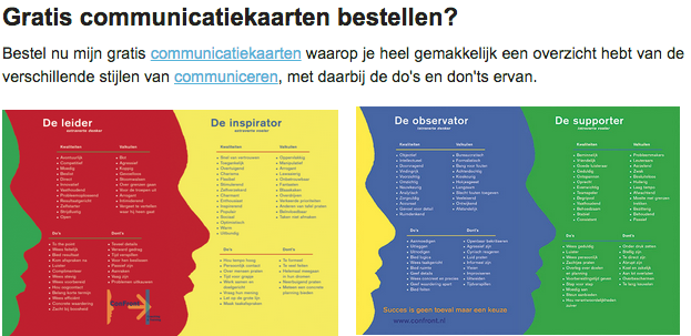 Communicatiestijlen en communicatiekaarten